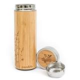 Pandoo Bambus Thermobecher, 480ml, inkl. Teesieb
