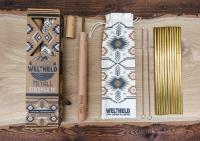 Weltheld Metall Strohhalme, 12 Stück, inkl. 2 Reinigungsbürsten