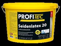ProfiTec Seidenlatex 20 P156, weiß, mittlerer Glanz, 12,5 Liter