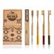 Weltheld Bambuszahnbürsten Erwachsene 4er Pack