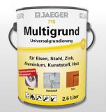 Jaeger Multigrund Universalgrundierung 715, weiß oder grau, 0,75l