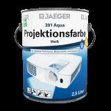 Jaeger Aqua Projektionsfarbe weiss matt 391, 2,5l