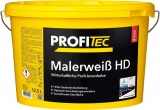 ProfiTec Malerweiß HD P115, weiß, stumpfmatt, 5 Liter