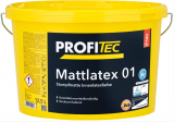 ProfiTec Mattlatex 01 P143, stumpfmatt, weiß, 5 Liter