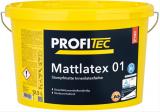 ProfiTec Mattlatex 01 P143, stumpfmatt, weiß, 12,5 Liter