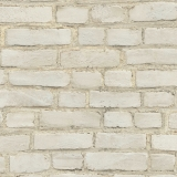 A.S. Creation Vliestapete  374141 - Maueroptik-Tapete Backsteinwand gestrichen & rustikal, grau, weiß